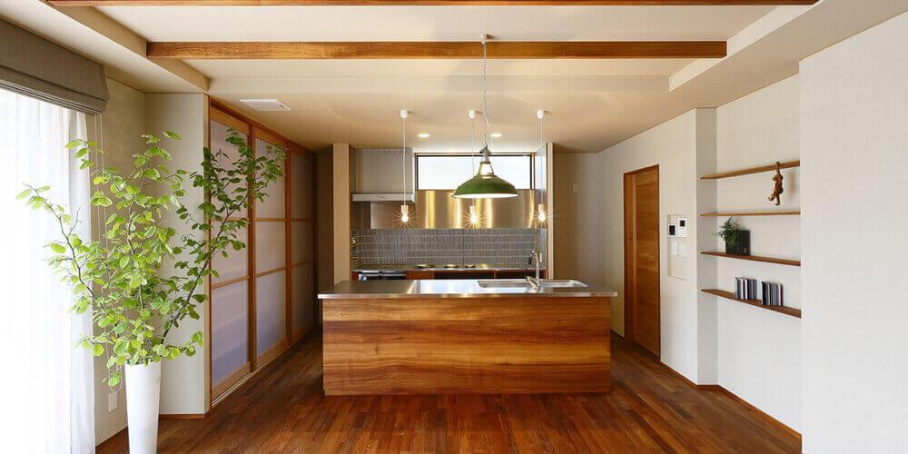 ゲストを招くオープンキッチン